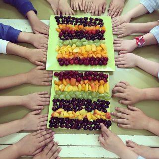 🌈 healthy rainbow 🌈 #food #nutrition #school #healthykids #5aday #fruitandveggies
