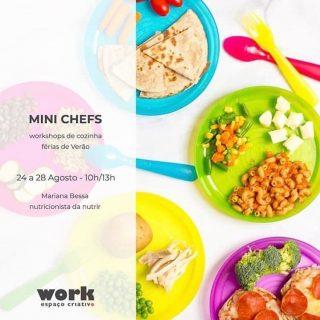 Mini chefs 👩🏻🍳🍋🧑🏼🍳workshops de cozinha p/crianças dos 6 aos 10 anos - 24 a 28 de Agosto das 10 às 13 h. 📌Informações e inscrições: work@sott.pt